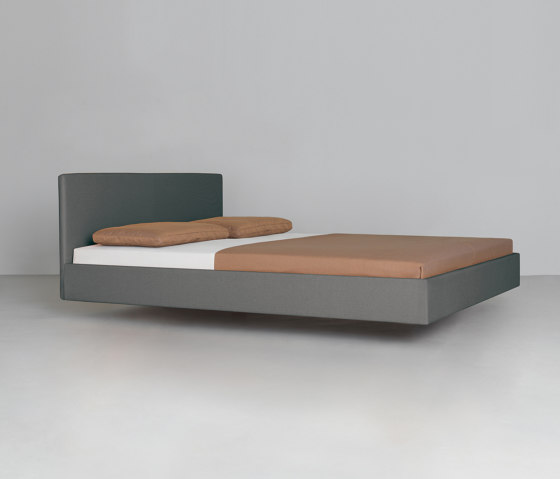 Simple Soft with upholstered headboard by Zeitraum   Beds