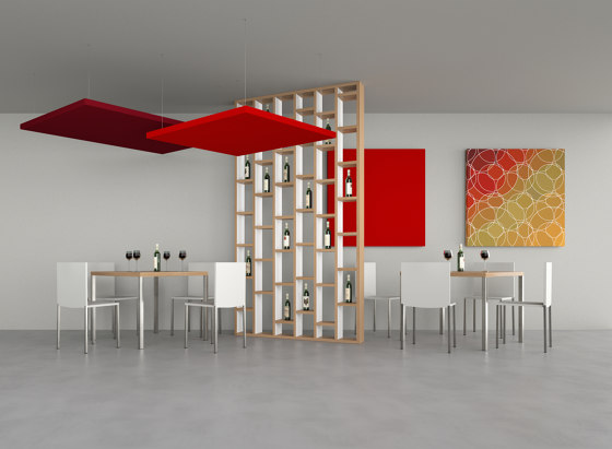 Silente Hanging by Caruso Acoustic by Lamm | Ceiling panels