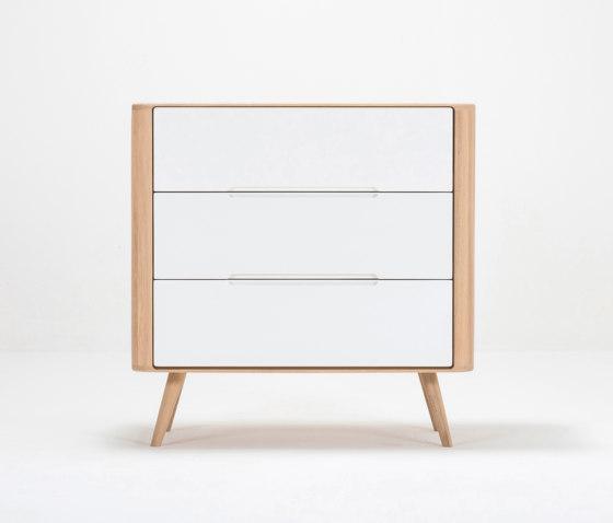 Ena drawer | 90 - 3 drawers by Gazzda | Sideboards