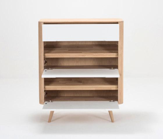 Ena shoe cabinet | 90x35x110 by Gazzda | Cabinets