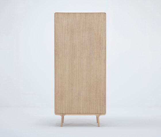 Fawn wardrobe | hanger & shelves | 90x45x200 by Gazzda | Cabinets