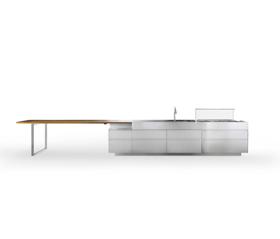 Convivium Island with Up & Down Table by Arclinea   Island kitchens