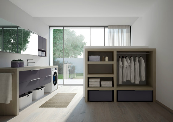 Spazio Time 5 by Ideagroup | Wall cabinets