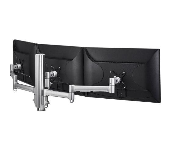 Modular | Triple Monitor Mount on 400mm Post AWMS-3-13714 by Atdec | Table equipment