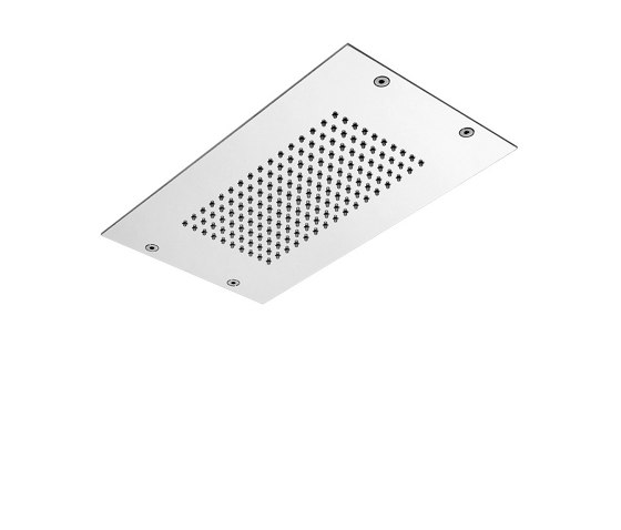 Modular F2805 | Ceiling mounted stainless steel showerhead with rain flow by Fima Carlo Frattini | Shower controls