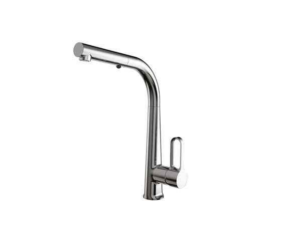 Skinny F7026 | Kitchen mixer with extractable handshower by Fima Carlo Frattini | Kitchen taps