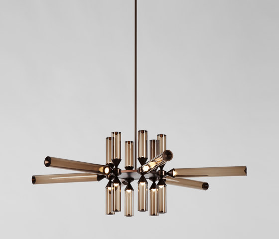 Castle 18-01 (Bronze/Smoke) by Roll & Hill | Suspended lights