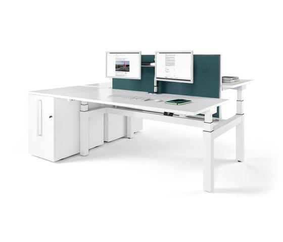 Viteco Partitioning system by Assmann Büromöbel | Table dividers