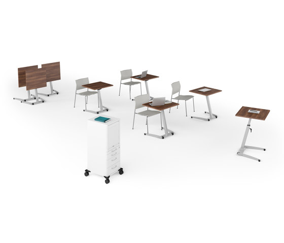 Pontis Seminar tables de Assmann Büromöbel | Mesas altas