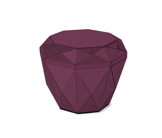 Diamond Table burgundy di Reflections Copenhagen | Tavolini alti