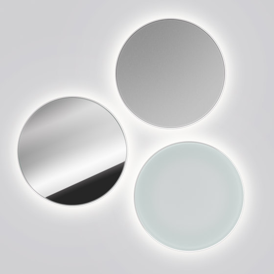 LID Wall | aluminum silver anodized by serien.lighting | Wall lights