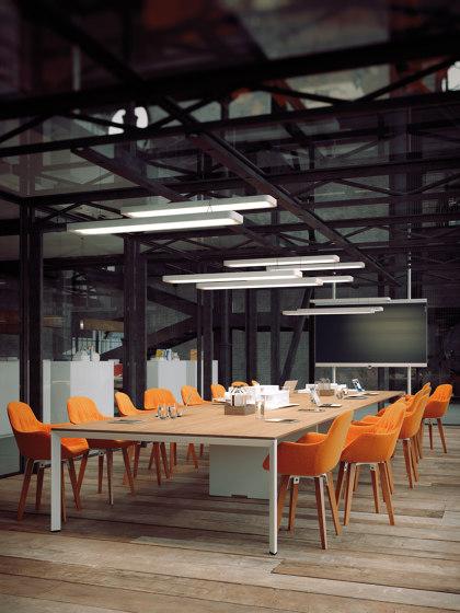 Diamond EVO meeting de Sinetica Industries   Mesas contract