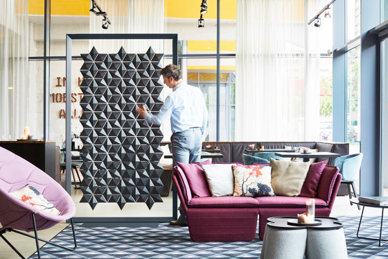 Facet Freestanding Room Divider - 136x219cm by Bloomming | Privacy screen
