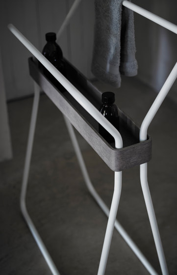 Origin Freestanding Towel Rack With Tray by Inbani | Towel rails