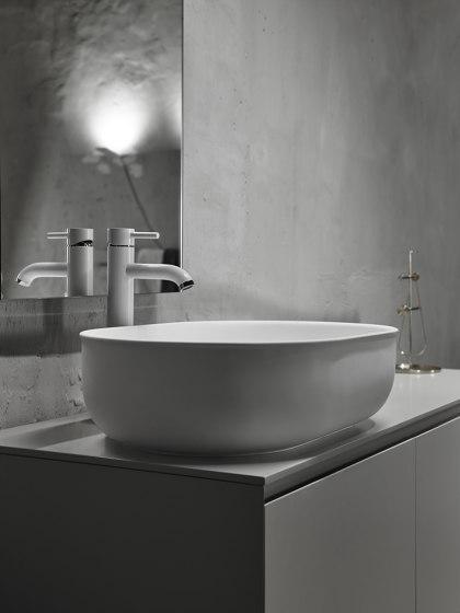 Prime 55 Solidsurface top mounted washbasin. by Inbani | Wash basins