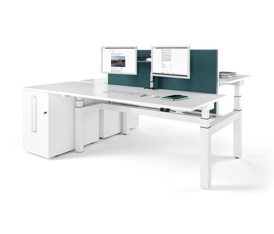Canvaro Compact Desk by Assmann Büromöbel | Contract tables