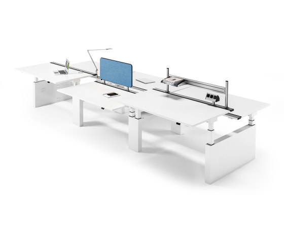 Canvaro Compact Desk by Assmann Büromöbel | Contract tables