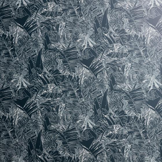 Jungle | Papier-peint blanc sur noir de Petite Friture | Revêtements muraux / papiers peint