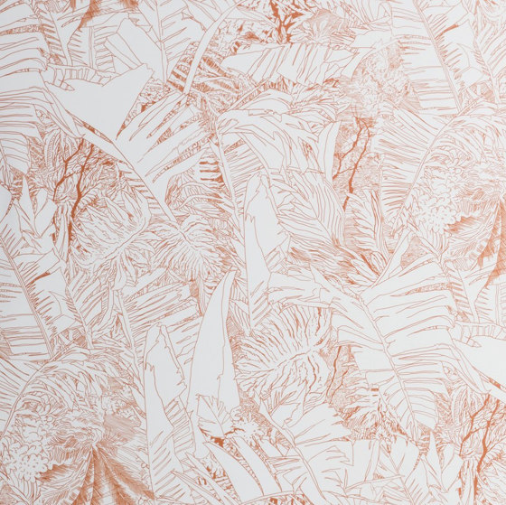 Jungle | Copper wallpaper by Petite Friture | Wall coverings / wallpapers