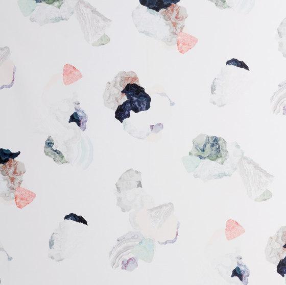Minerals | Turquoise-coral wallpaper de Petite Friture | Revestimientos de paredes / papeles pintados