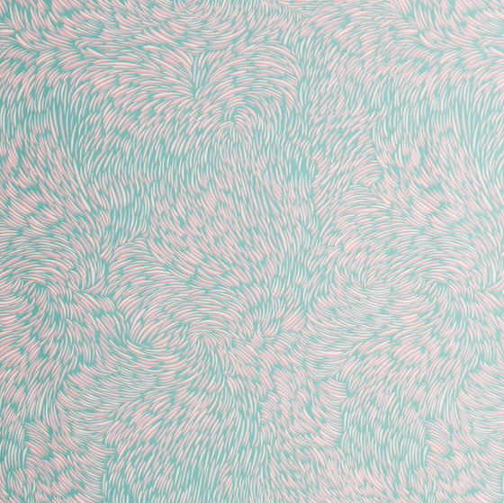 Volutes   Green wallpaper by Petite Friture   Wall coverings / wallpapers