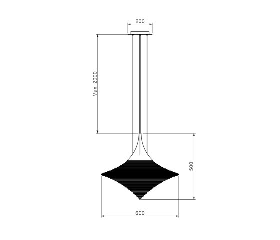 Disca L by Hind Rabii | Suspended lights