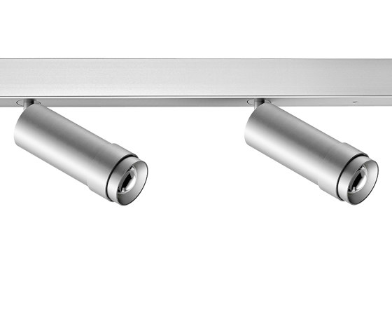 VERTICO mounted profile spotlights, 2-flame natural anodised by RIBAG | Ceiling lights