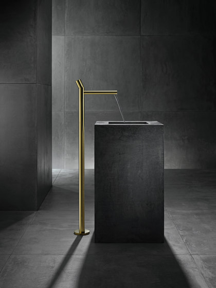 AXOR Uno Single lever basin mixer floor-standing zero handle without waste set by AXOR | Wash basin taps