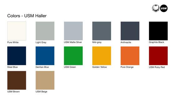 USM Haller E | Steel Blue by USM | Shelving