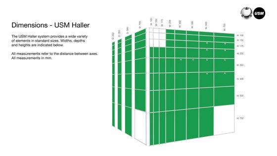 USM Haller E | USM Beige di USM | Espositori