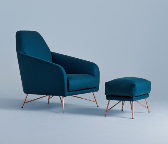 Wilma | Armchair and Ottoman by My home collection | Armchairs