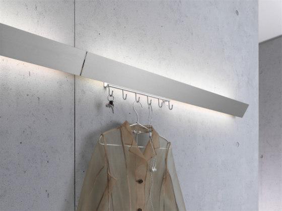 Coat rack light | GERA light system 8 di GERA | Lampade parete
