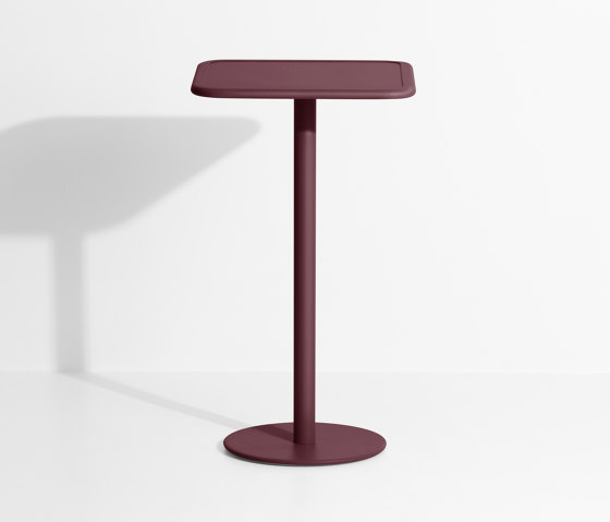 Week-End | Square high table di Petite Friture | Tavoli alti