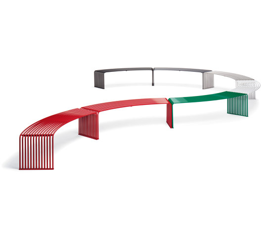 ZEROQUINDICI.015 FLAT BENCH CONCAVE OR CONVEX by Diemmebi | Benches