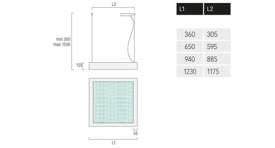 Matric Ready Square Acoustic de Lightnet | Suspensions