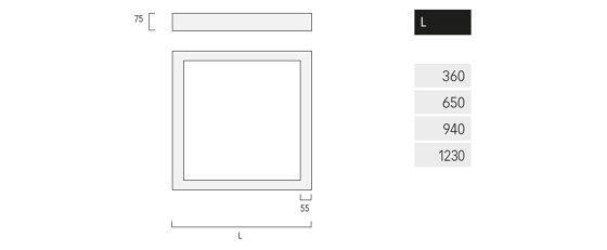 Matric Ready Square A3 de Lightnet   Plafonniers