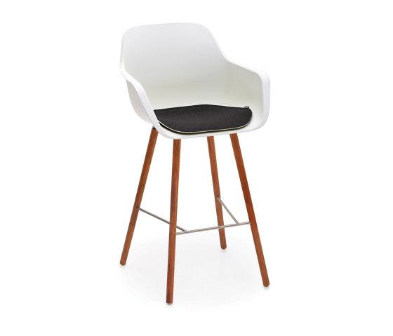 Captain's sedia alta con struttura in legno di extremis   Sgabelli bancone