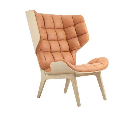 Mammoth Chair, Natural / Vintage Leather Cognac 21000 by NORR11 | Armchairs