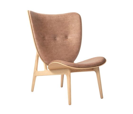 Elephant Chair, Natural / Vintage Leather Camel 21004 by NORR11 | Armchairs