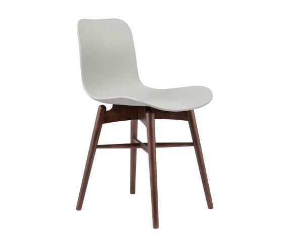 Langue Original Dining Chair, Dark Stained / Army Green de NORR11 | Sillas