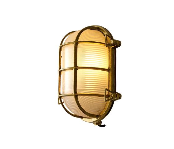 Oval Brass Bulkhead with Internal Fixing Points, Pol Brass by Original BTC | Wall lights