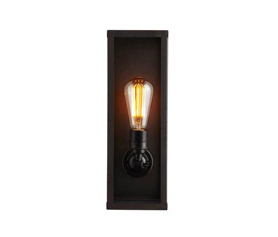 7650 Narrow Box Wall Light, Internally Glass, Weathered Brass, Clear by Original BTC | Wall lights