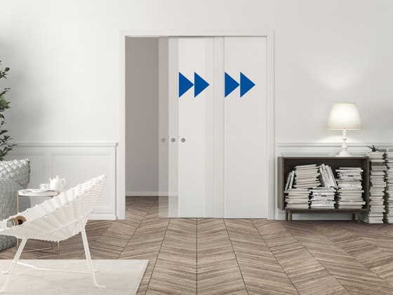 Telescopic synchronisation by ECLISSE | Internal doors