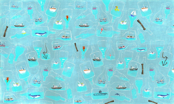 In a bottle by WallPepper | Wall coverings / wallpapers