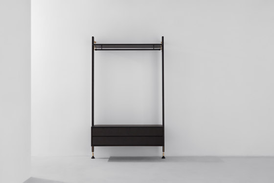 Theo Wall Unit Clothing Rail With Drawer by District Eight | Coat racks