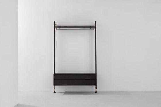 Theo Wall Unit Clothing Rail With Drawer von District Eight | Garderoben