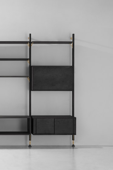 Theo Wall Unit With Bar Counter by District Eight | Shelving