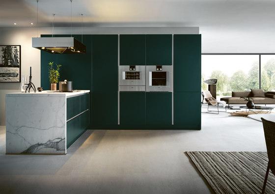 NX 505 Verde jaguar satinado de next125 | Cocinas integrales