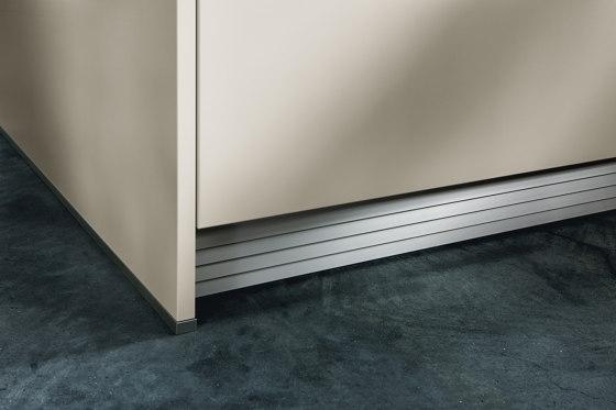 NX 510 Sand grey matt velvet by next125   Fitted kitchens