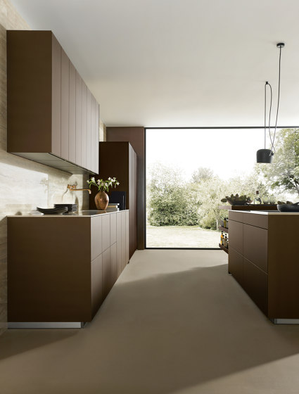 NX 902 Glass matt bronze metallic by next125 | Fitted kitchens